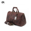 Fashionable Dark Coffee Leather Travel Tote Bag
