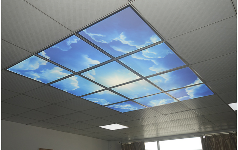 Unique space decoration and illumination LED sky ceiling panel light