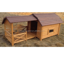 ZPDK1029 wooden outdoor wood dog house kennel onsale with veranda passage