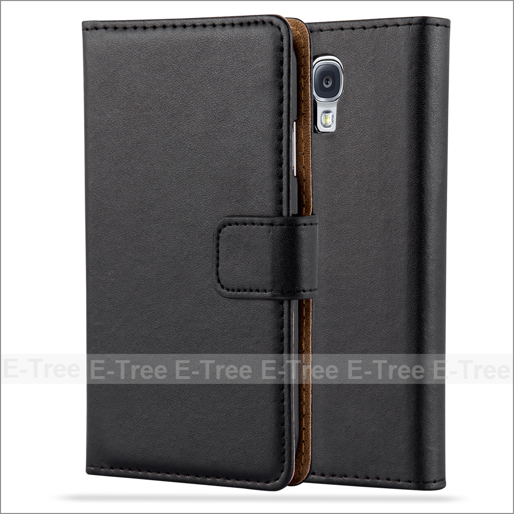 Wholesale PU Leather Wallet Phone Case With Card Slots For Galaxy S4, Flip Cover For Samsung Galaxy S4