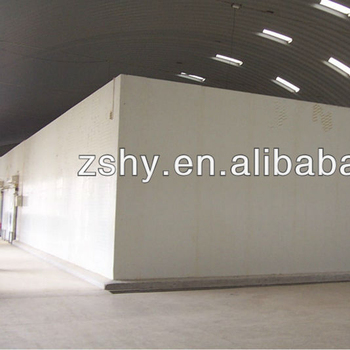 Concrete floor cold room for heavier products