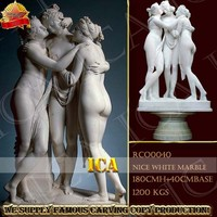 Natural marble sculptures hand carved the three graces statue