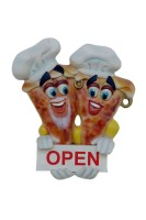 Resin Pizza Open-Close Door Sign (Male and Female)