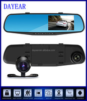 Car gps navigator Android bluetooth wifi dual camera 1080p car dvr rearview, rear view mirror camera dvr