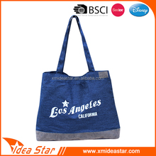 Wholesale cheap custom denim blue casual fashion women shoulder bag