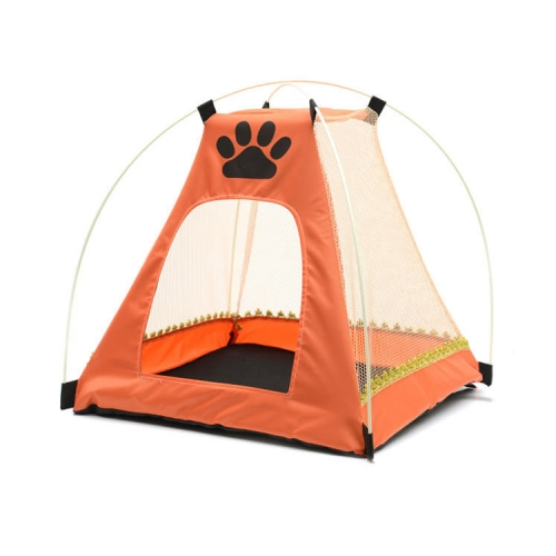 Pet Tent, Pet Bed, Pet supplies with Ventilated Mesh Mosquito Net Dismountable Size: 45x45x45cm