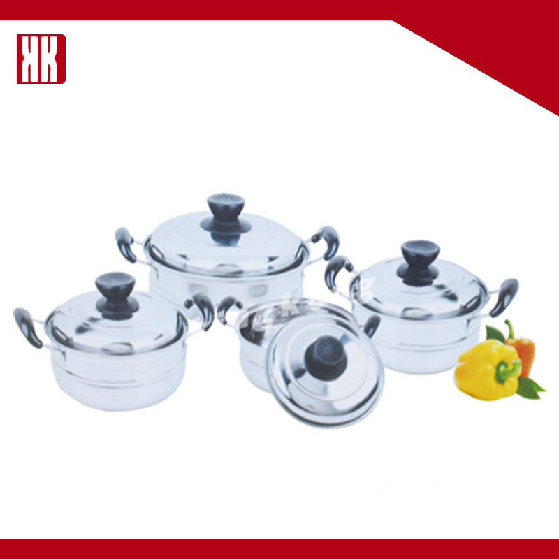 2015 stainless steel cookware set pot group set cookware cooking 4 pots and pans