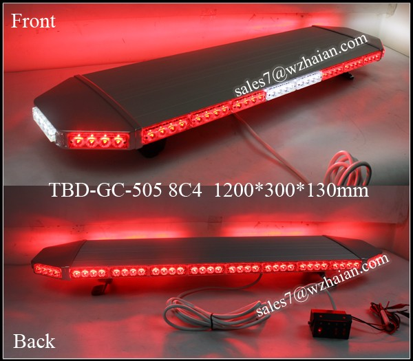 Super Thin LED Emergency Warning Lightbar/Red LED Strobe Top Lightbar/1200mm LED Signal Light for Cars TBD-GA-505 8C4