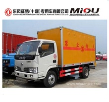 Factory direct sale dongfeng 4X2 95hp van cargo box truck with low price