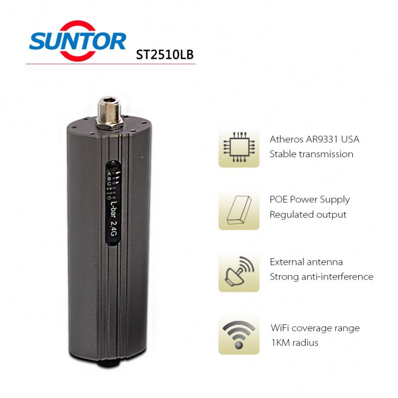 1~2km outdoor 2.4ghz small wifi coverage wirelless access point/bridge