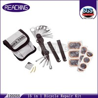 120255 On Time Delivery Wholesale 15 in 1 Bicycle Repair Kit