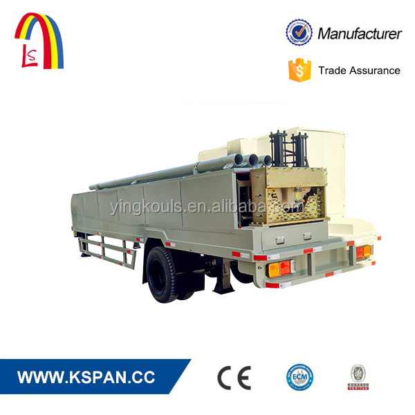 Arch Building Self Supporting Roof Machinery With Tires