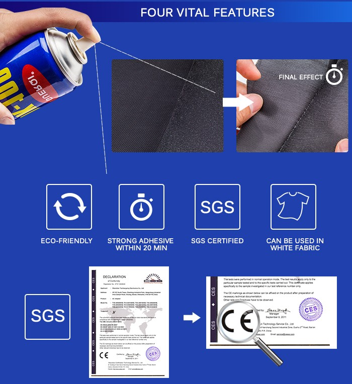 Top selling products SK-100 spray adhesive for letters embroidery self adhesive letters
