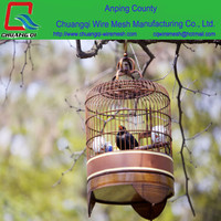 OEM Customize welcome metal decorative wedding antique bird cage