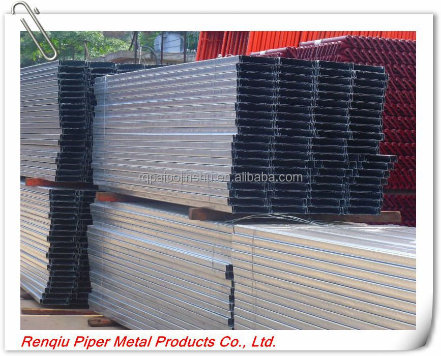 Galvanized Steel Metal Plank, Scaffolding Catwalk, Q195/Q235 hot dipped metal scaffold plank/boards/deck