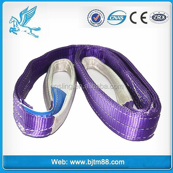 polyester webbing sling lifting belt, Polyester Sling/ Lifting belt, heavy duty Polyester Round Sling (Eye to Eye) for lifting