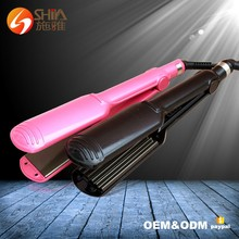 2017 Led Titanuim Ultrasonic Iron Wave Steam Hair Straightener With Teeth Vending Machines