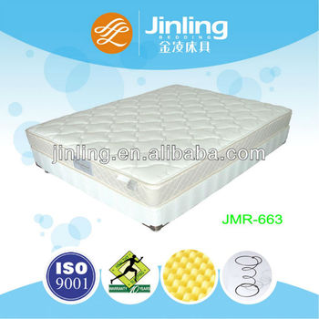 Bonnell spring mattress with convoluted foam in filling