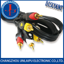 JLP m/m 3.5mm rca audio cable for hdtv hd dvd 1.5m 1.8m 3m 5m china supplier