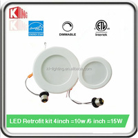 2016 Newest Dimmable 5%-100%LED Downlight Meet CEC California qualified Spec 4 /6 Retrofit kit ETL and energy start Approved