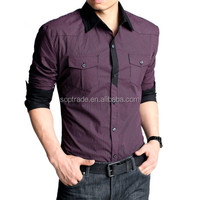 latest fashion high quality generous unique design long sleeve men shirt