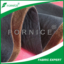 black bronzed suede fabric bonded loop velvet for sofa chair covers hot sale Spain Russia USA
