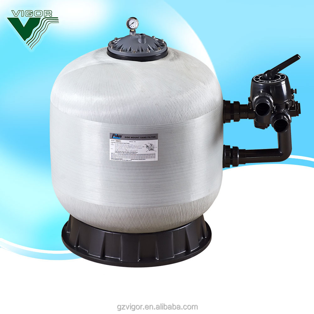 Factory Top -mount swimming pool water well silica sand filter with high flow rate