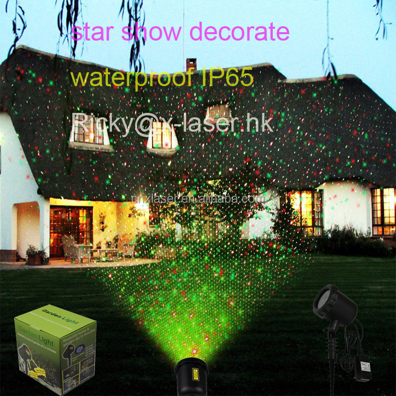 Garden Laser Light Moving RG Waterproof Holiday Laser Lights Projector with Remote Control for Holiday, Party, Wedding,