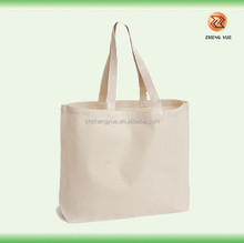 high quality customized plain white cotton canvas tote bag