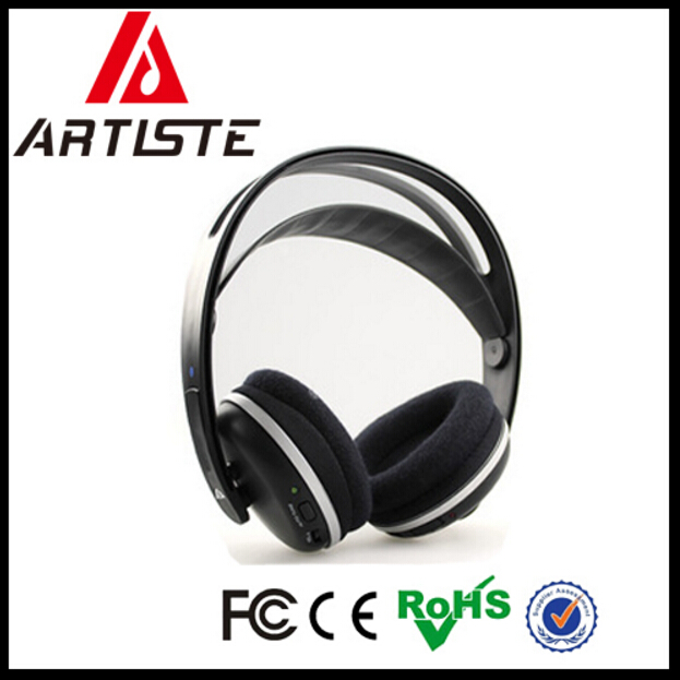 Wholesale cheap analog wireless RF headphone for watching TV