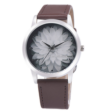 women watches 2016 aliexpress top selling cheap leather ink painting flower watches ladies