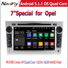 HD 1024X600 Touch Screen Android 5.1 Car DVD Player for Opel Astra h Vectra Antara Zafira Wifi 3G BT Radio USB SD