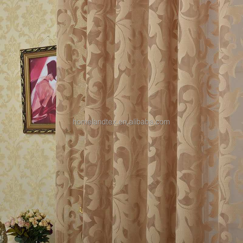 Lace Embroidered Curtain Fabric for Home
