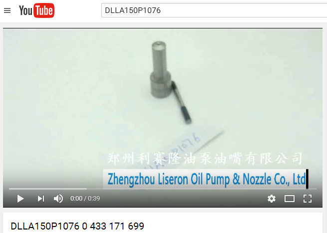 ERIKC DLLA150P1076 Diesel Fuel Injector Nozzles 0 433 171 699 spraying nozzles DLLA 150P1076 mist nozzle for 0 445 120 019