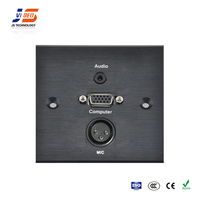 JS-WP105 With VGA,Audio Multimedia Wall Plate Socket For Office Furniture