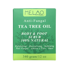 Tea Tree Oil 100% Natural Body & Foot Scrub 12 oz with Dead Sea Salt and Essential Oils Antifungal, Exfoliates & Moisturizes