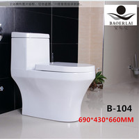 Baoerlai new style elongated siphonic flushing ceramic one piece toilet