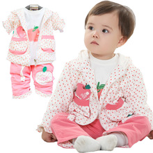 C82661A Autumn 3pcs girl clothing set/girls floral sets