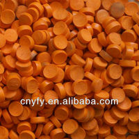 orange pvc granulated plastic balls for cable