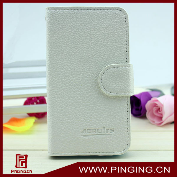 Flip leather case for alcatel one touch snap 7025d