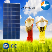 Excellent quality assurance 100w JX pv solar panel with attractive price per watt