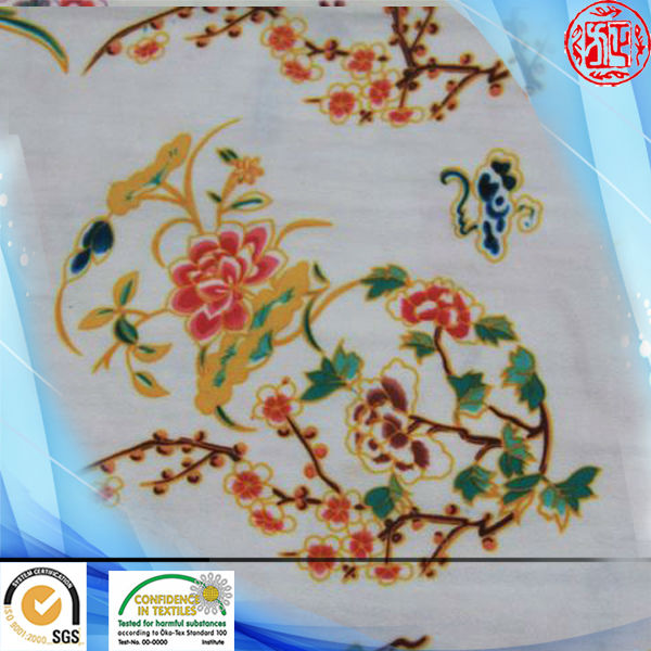 2014 new fashion Chinoiserie design screen printed heat transfer 75D chiffon fabric
