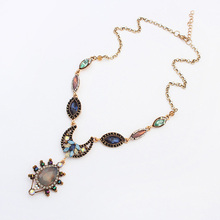 wholesale hot fashion latest design jewellery black old gold chain necklace pendant jewelr