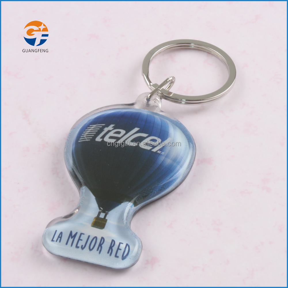 Customized OEM promotional printed acrylic keychain/ key chain/keyring