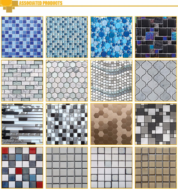 Mosaic Tile With Dolphin Pattern/Mixed Color Marble Mosaic