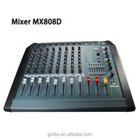 music mixer dj professional 8-channel digital audio video mixer(PMX808D)