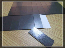 Flexible rubber craft self adhesive square sheet magnet,magnet patch with adhensive one side