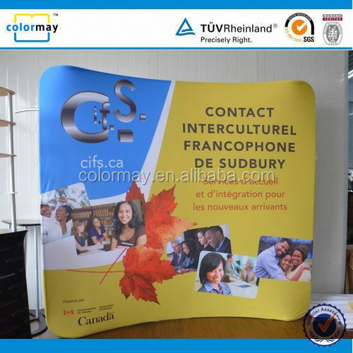 Trade show pop up display pop up banner stand