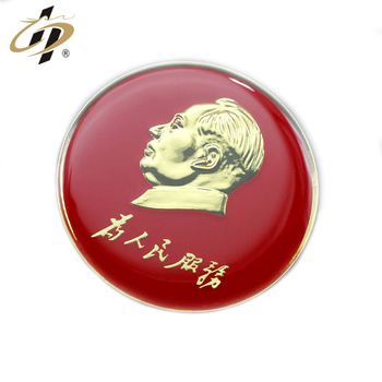 Customized metal gold 3D enamel resin lapel pin from manufacturers china