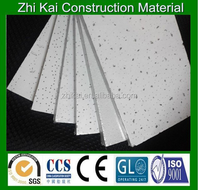 Types of ceiling materials mineral wool, white mineral fiber ceiling board